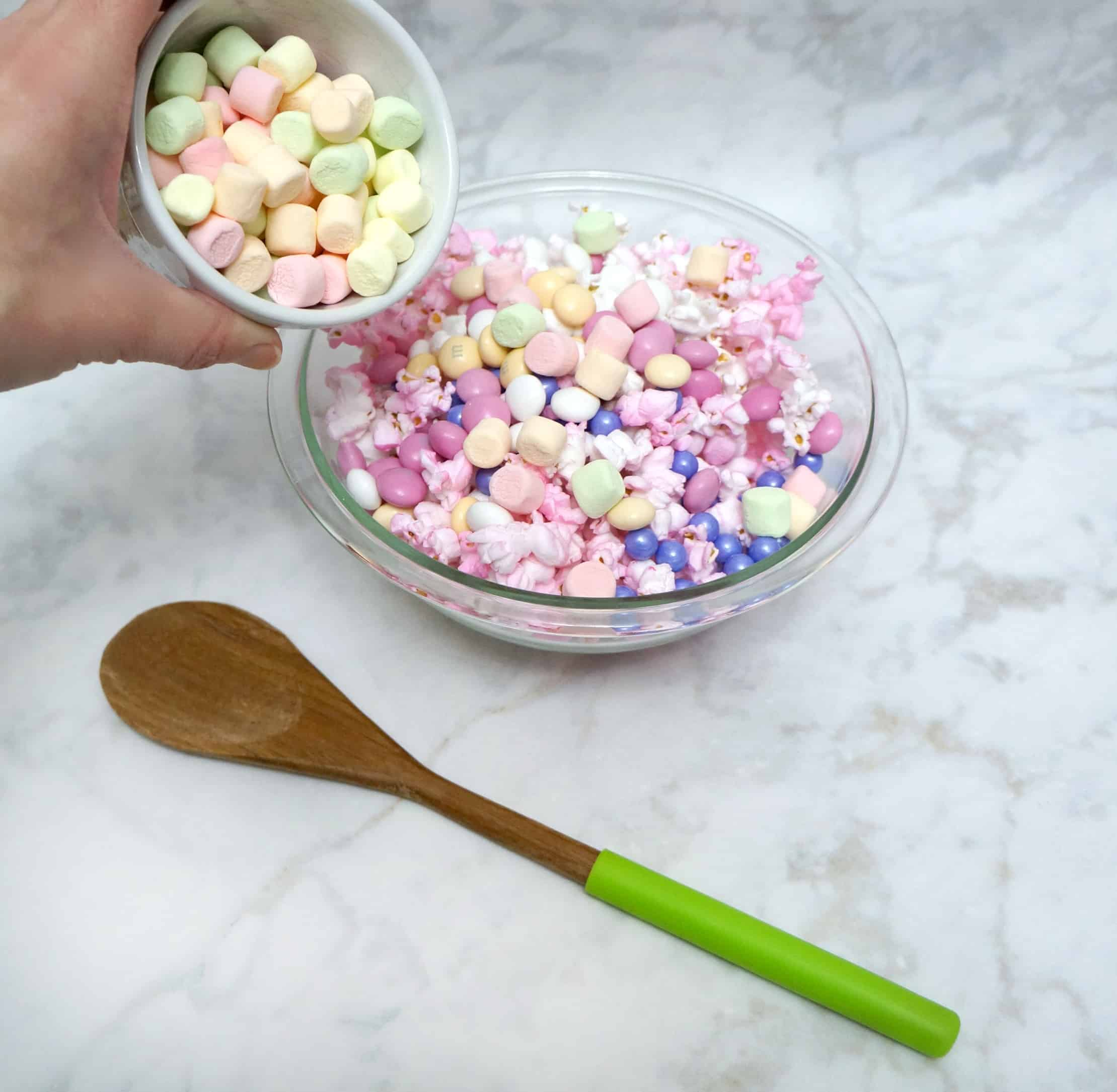 Mix up unicorn popcorn
