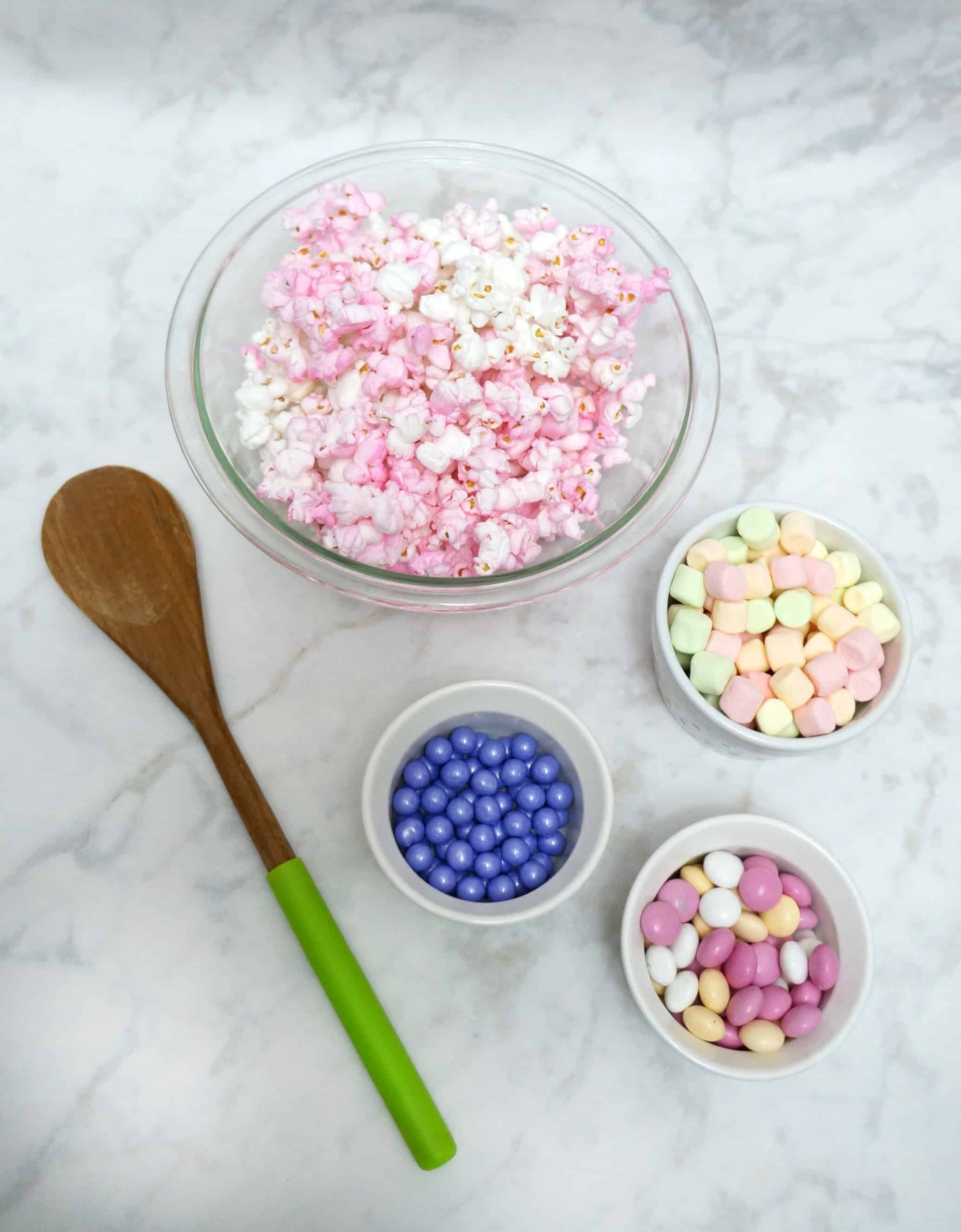 Unicorn popcorn recipe ingredients