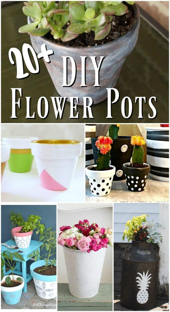 20 DIy flower pots