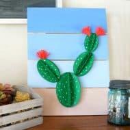 Paper Cactus Pallet Art