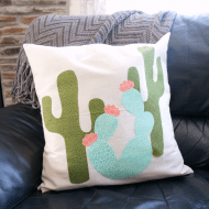 Cactus Pillow With Free Template