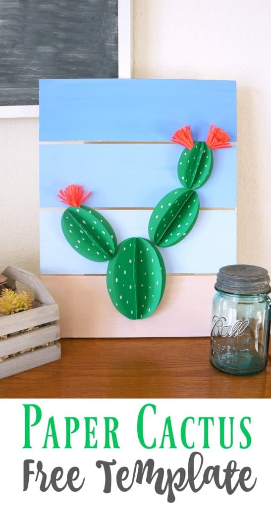 Create this paper cactus pallet art with a free template
