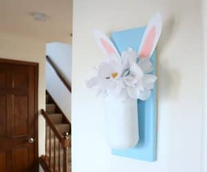 Easter jar hanger on wall