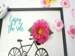 Enjoy the Ride Bicycle Sign flowers