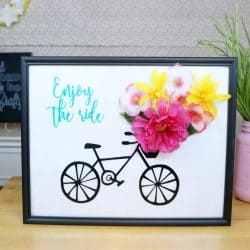 Enjoy the Ride Bicycle Sign with Flowers