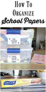 How to Organize School papers. A daily system that you can do while dinner is cooking.