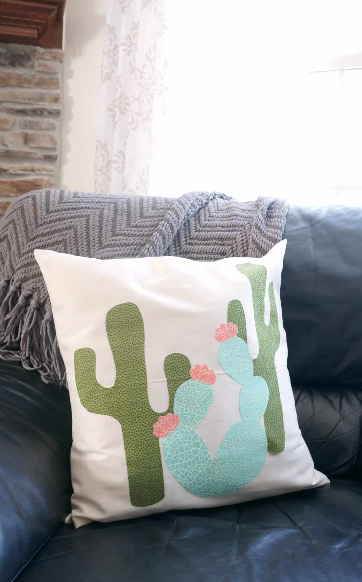 How to make a cactus pillow with free cactus template