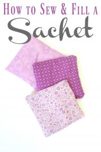 How to sew and fill a lavender sachet