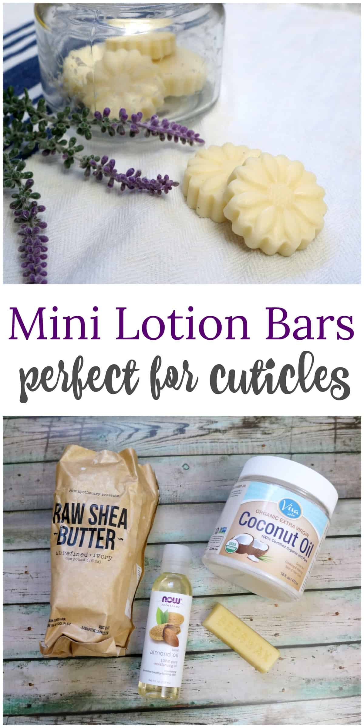 Lotion bar for cuticles. How to make a lotion bar.