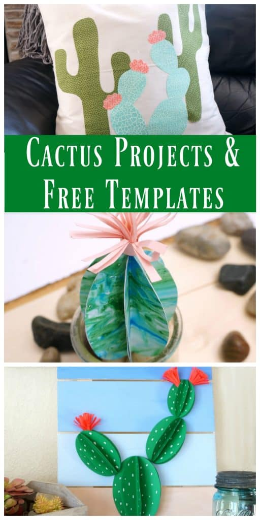 cactus pillow with free template creative ramblings