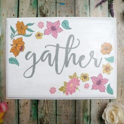 Mixed Media Spring Floral Sign