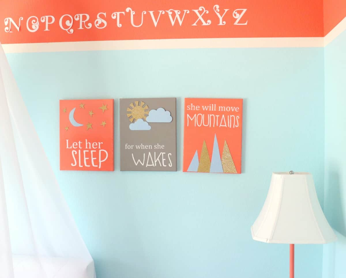 canvas wall art for a little girl she will move mountains