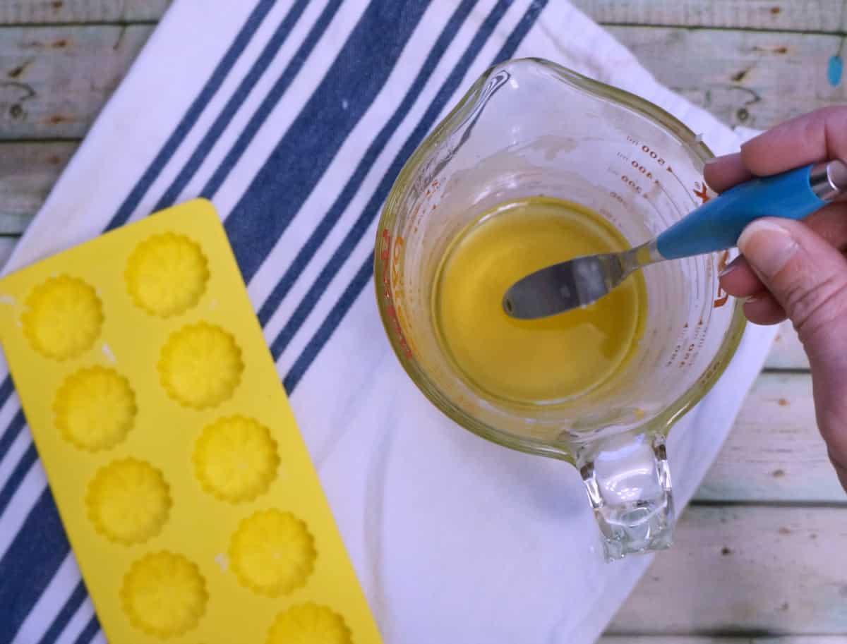 cuticle lotion bar mixing