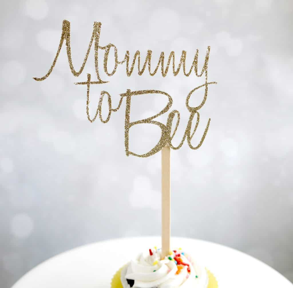 mommy to bee cake topper