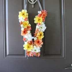 DIY Floral Monogram for Spring
