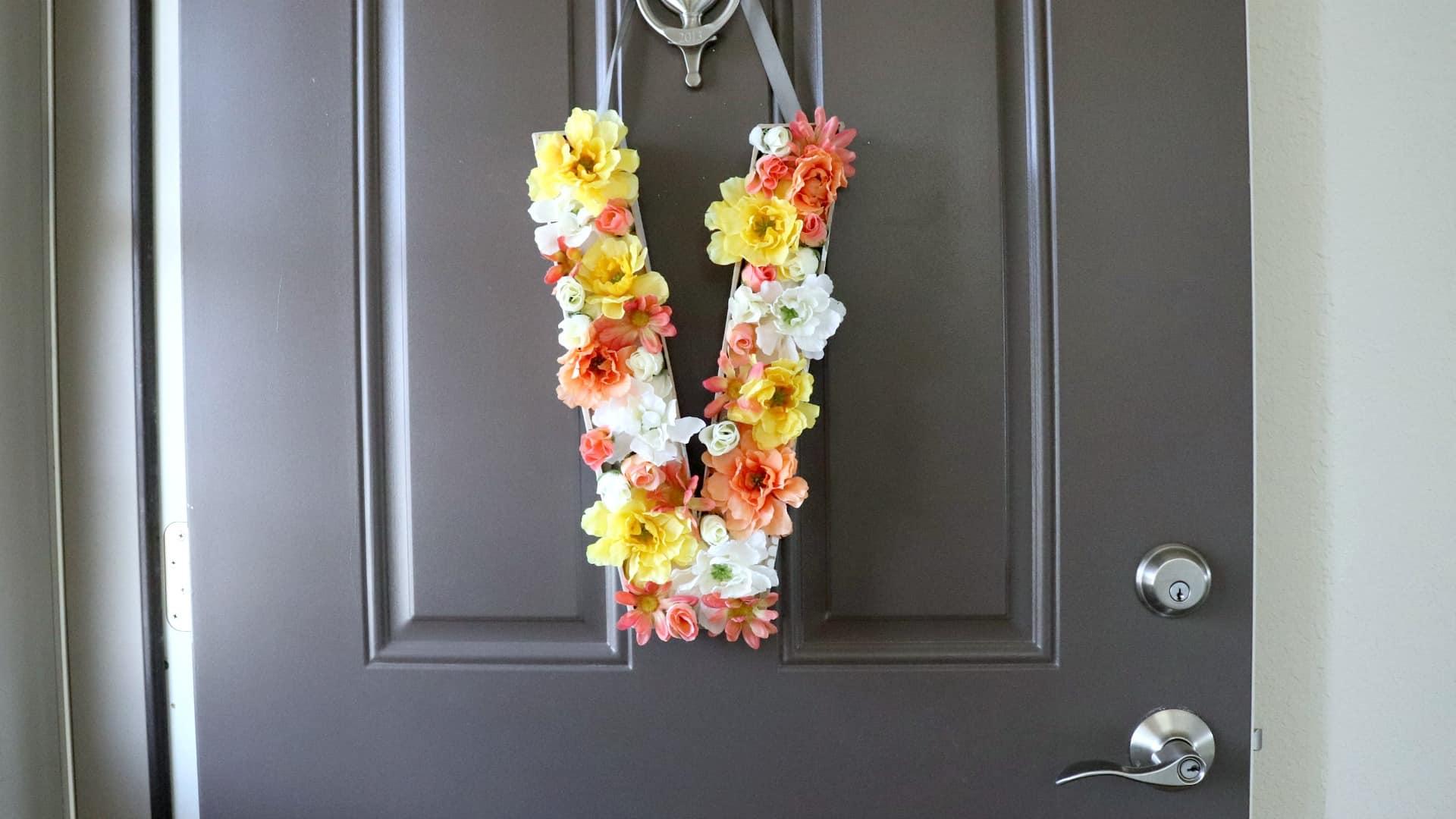 DIY Floral Monogram for Spring