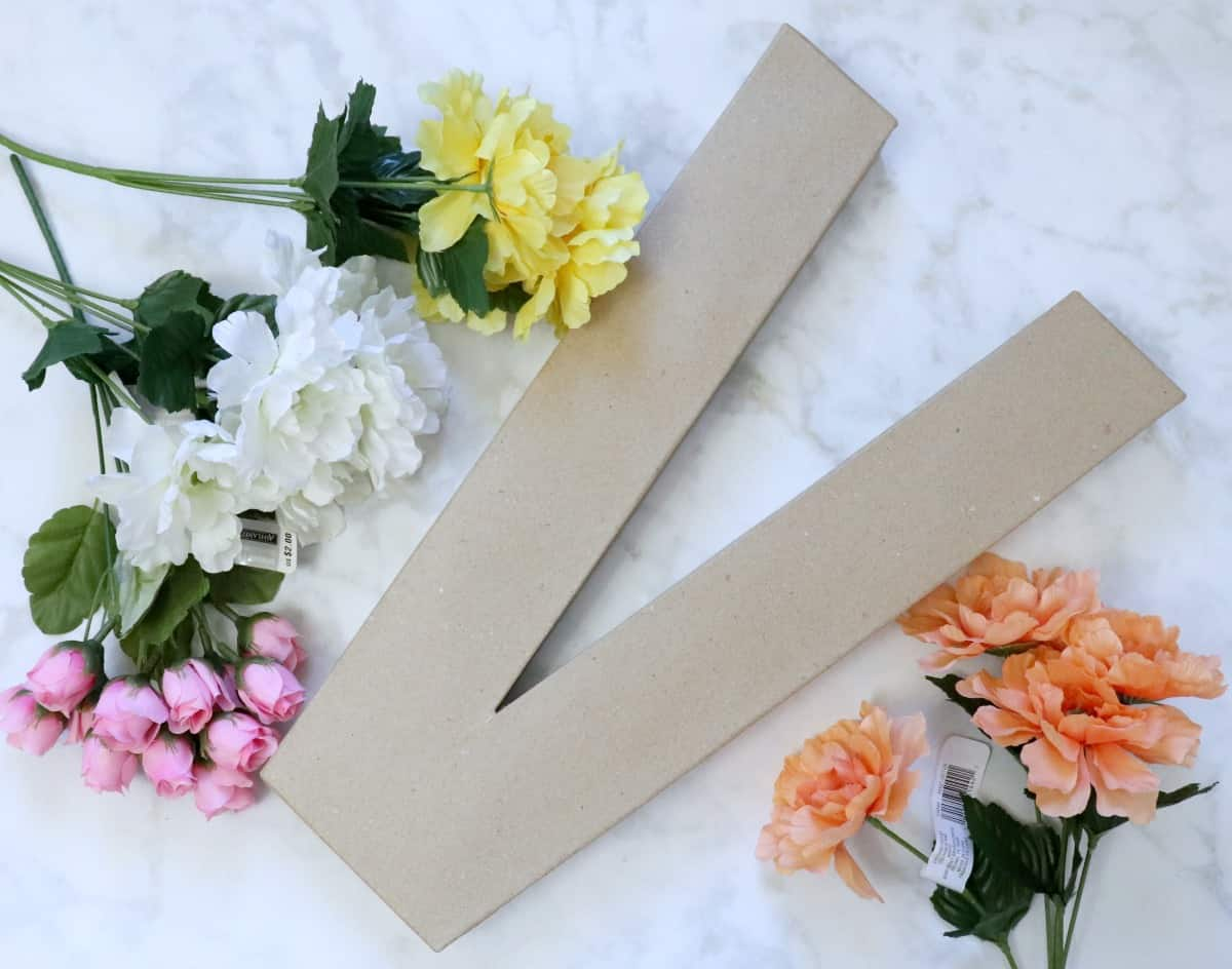 Floral monogram supplies