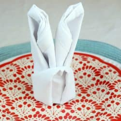 A Bunny Napkin Fold for Easter