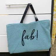 Dollar Store Placemat Bag