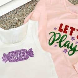 How to Cut and Layer Glitter Heat Transfer Vinyl