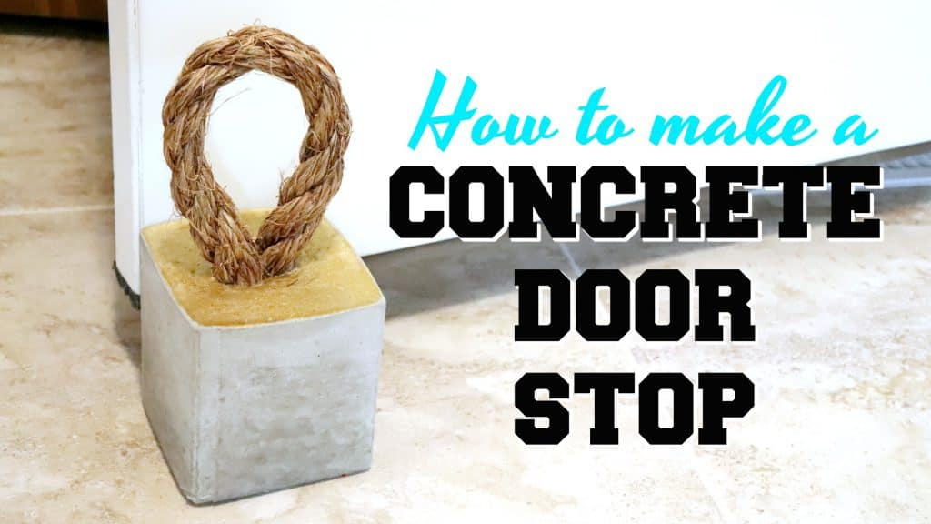 learn how to make a concrete door stop with a rope handle