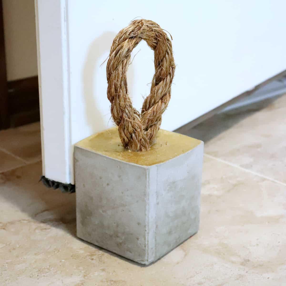modern concrete doorstop