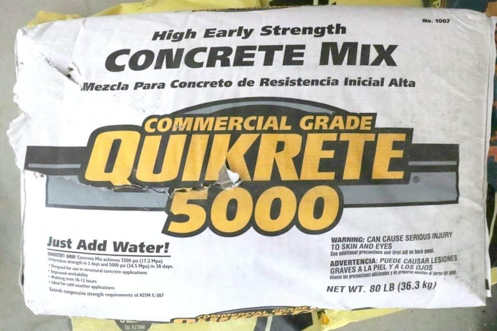 quikrete 5000 concrete door stop