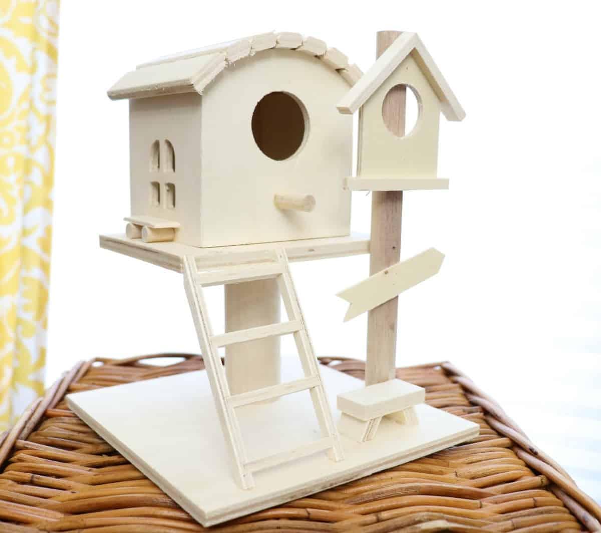 wood house for fairy garden
