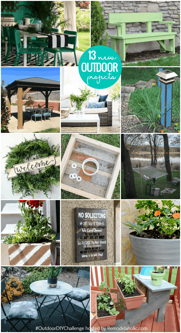 outdoor DIY challenge new tutorials projects #remodelaholic