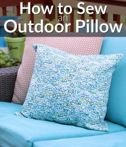 Watch and learn how to sew an outdoor pillow cover. Sew and envelope pillow cover.