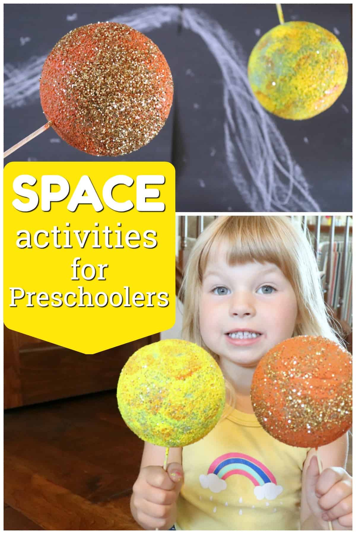 Teach problem solving with space themed preschool activities