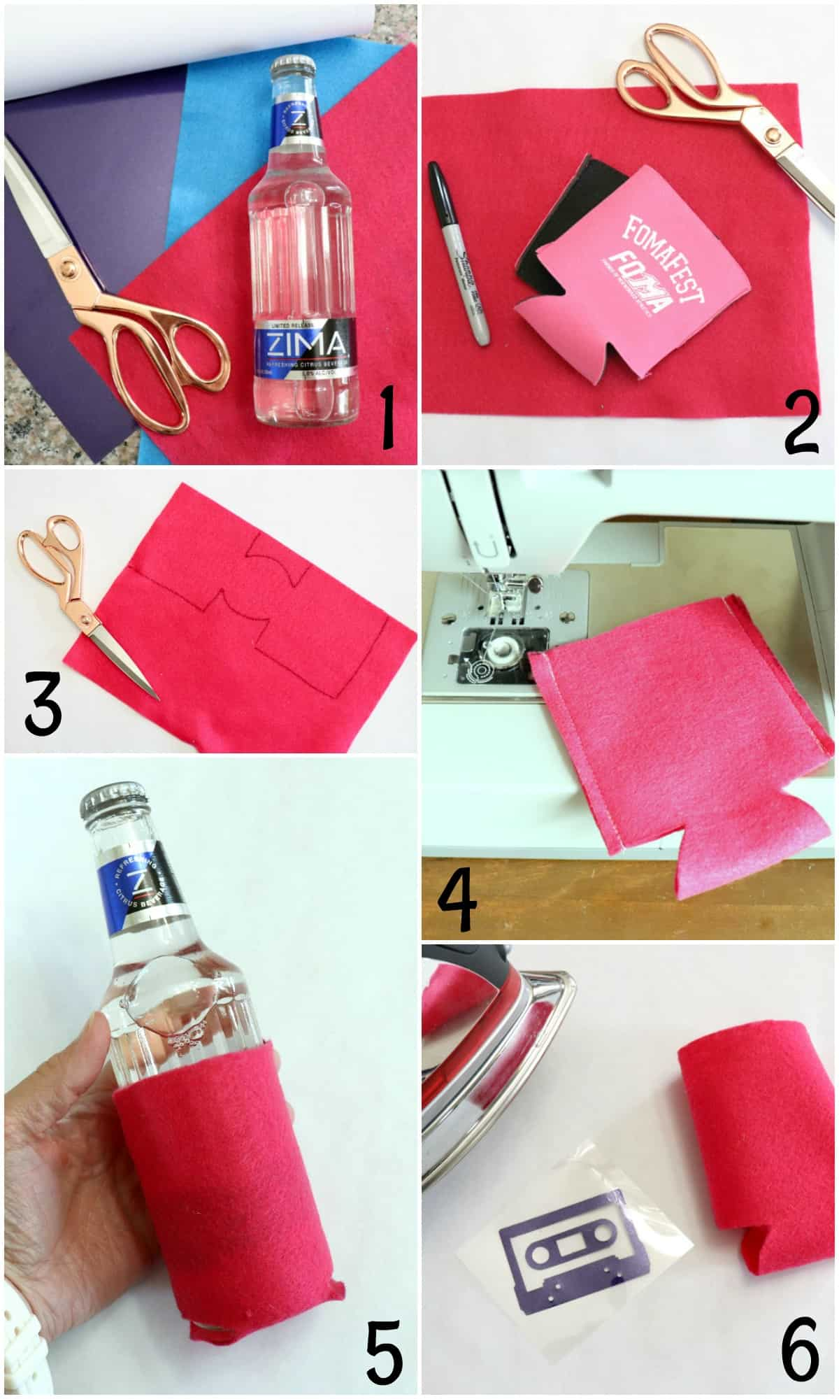 Step by step how to sew a koozie