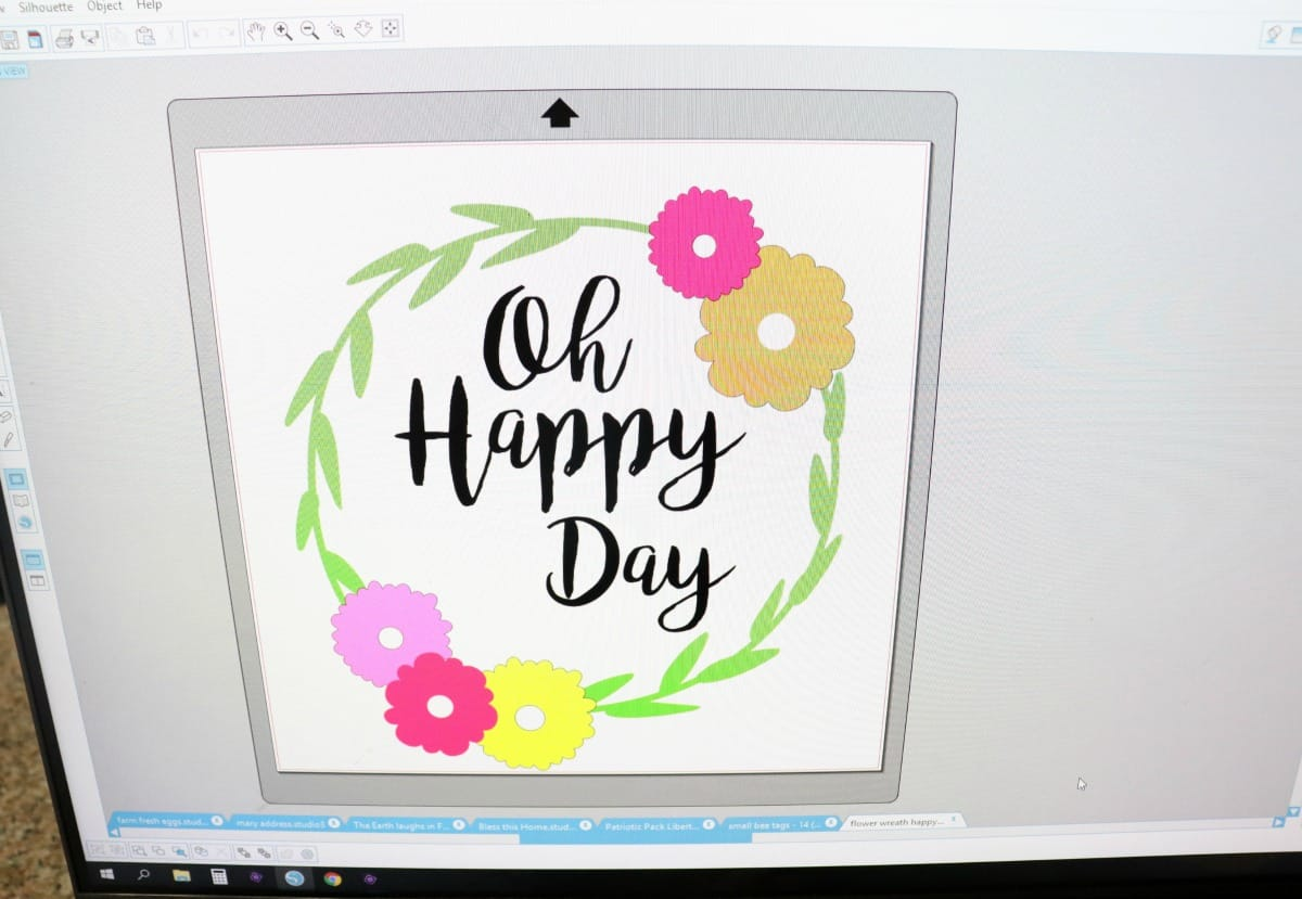 canvas paper art oh happy day silhouette