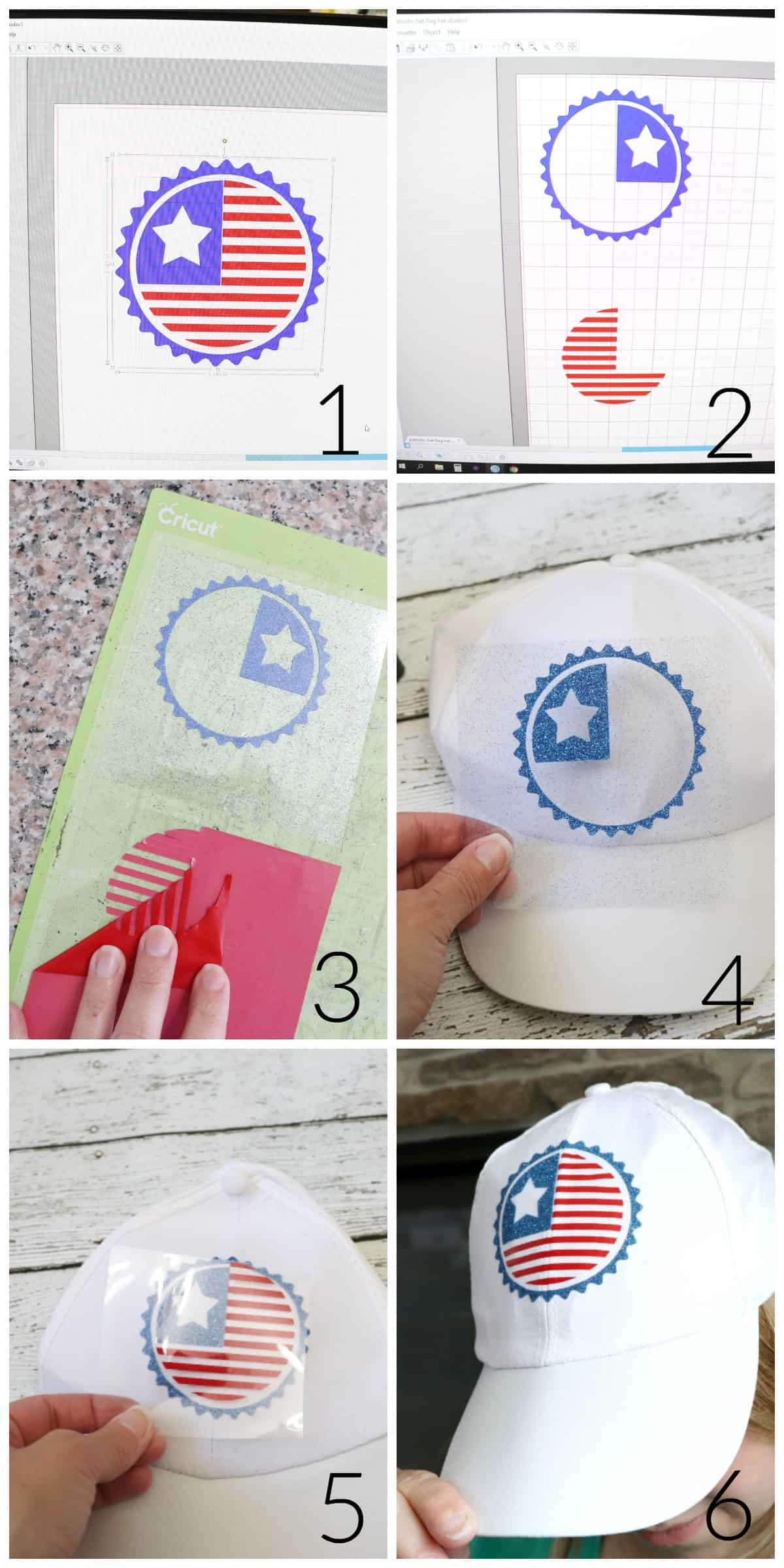 how to make a patriotic hat with dollar store supplies