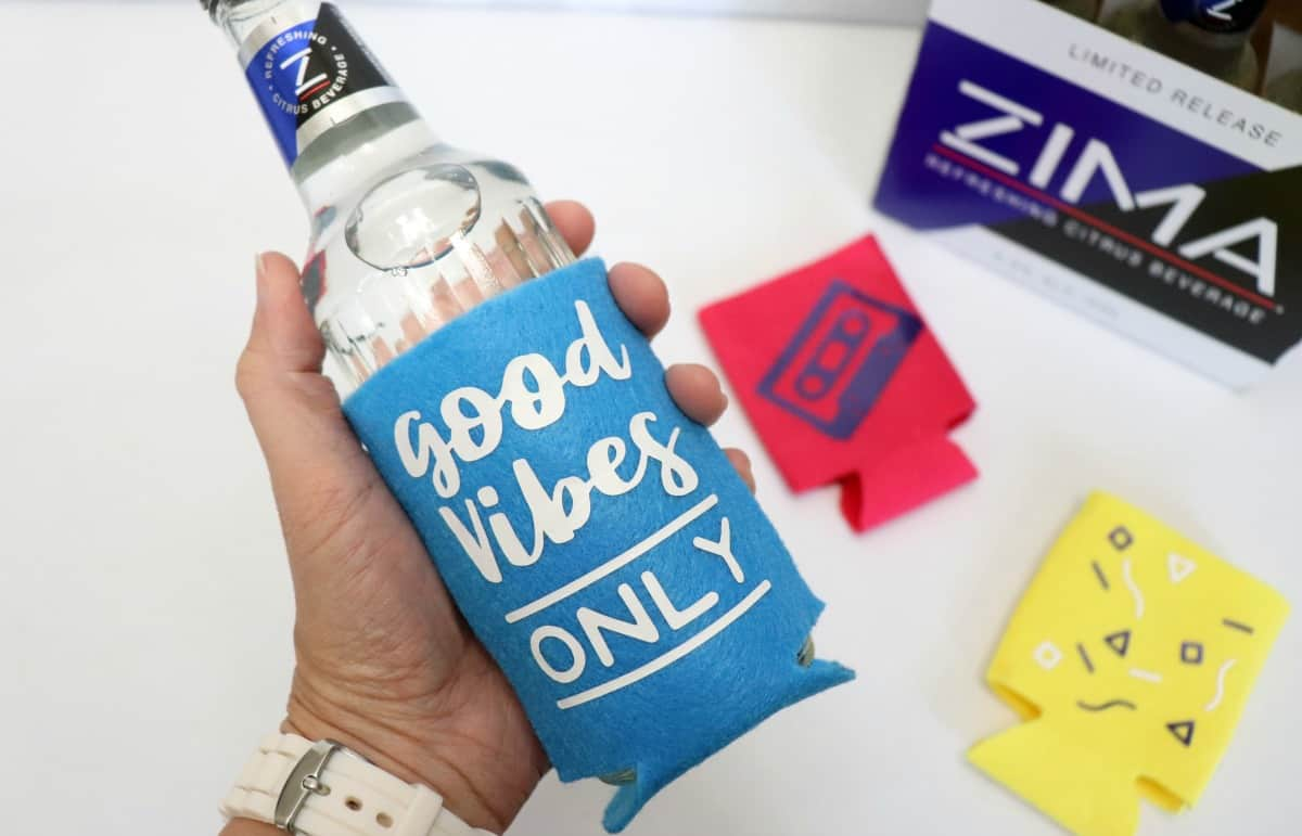 learn how to sew a koozie for a Zima