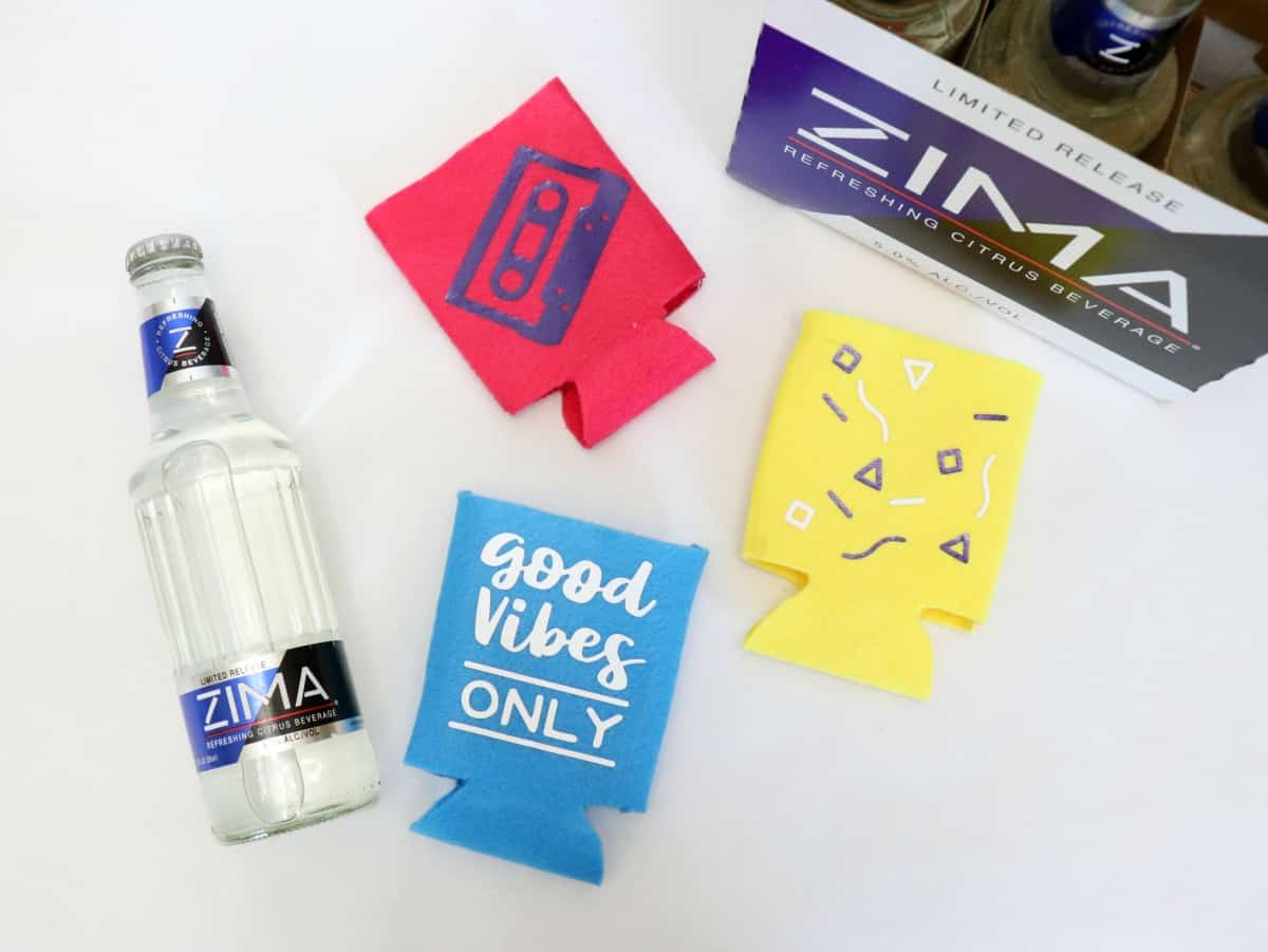 learn how to sew a koozie for your Zima