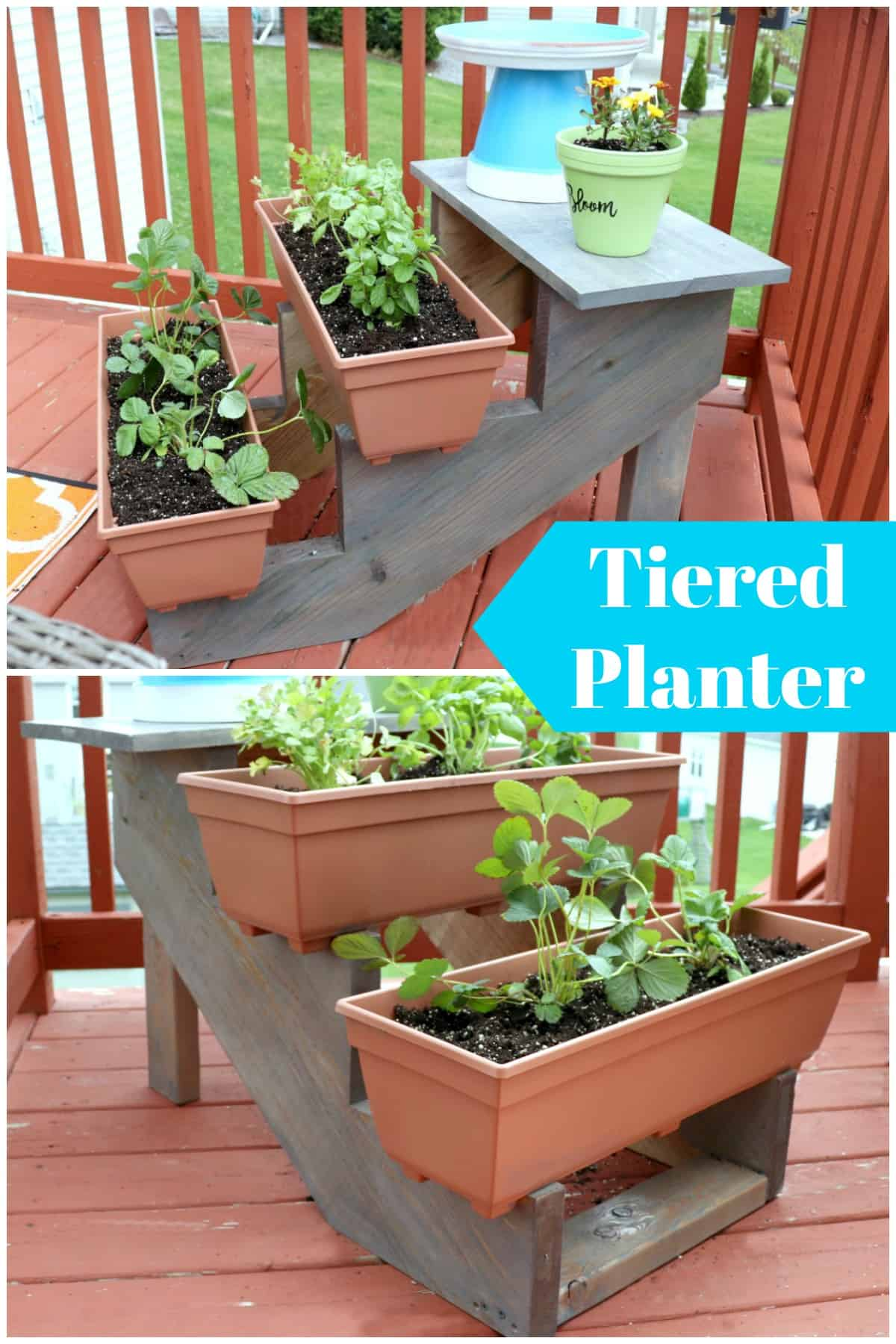 learn to build a tiered planter