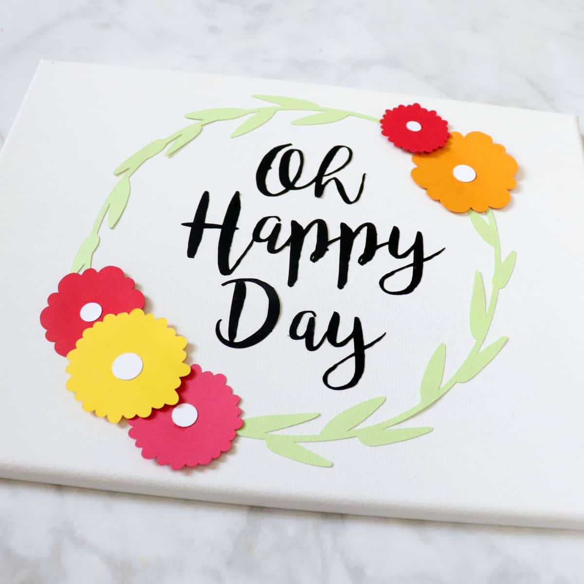 oh happy day canvas paper art
