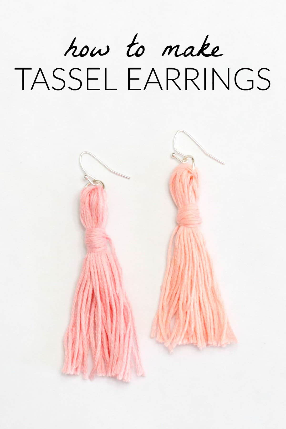 DIY tassel earrings, make tassel earrings