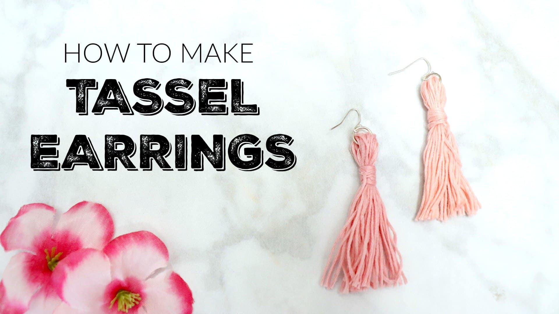 How to make tassel earrings video cover
