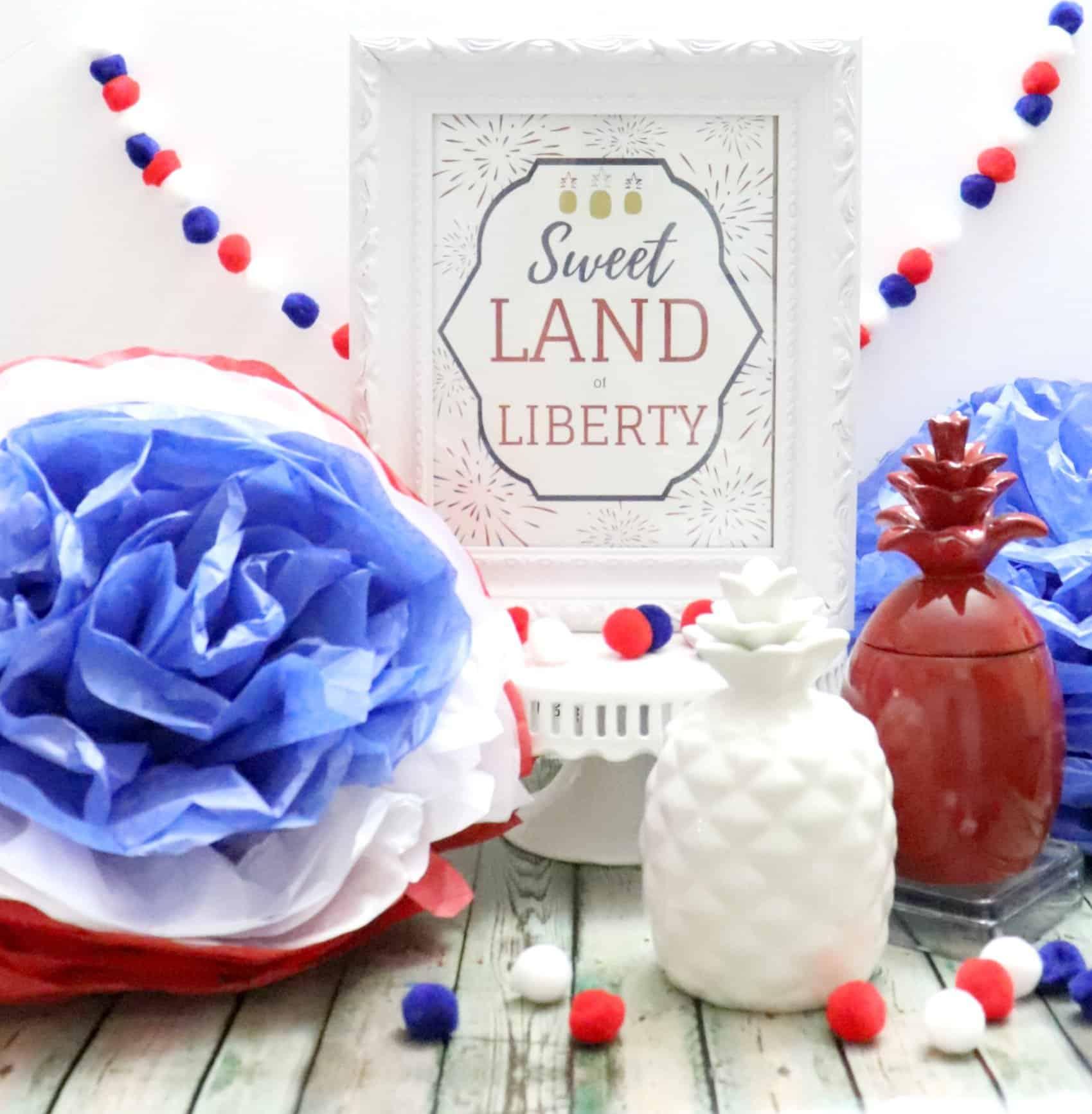 Modern Patriotic Decor and patriotic printable
