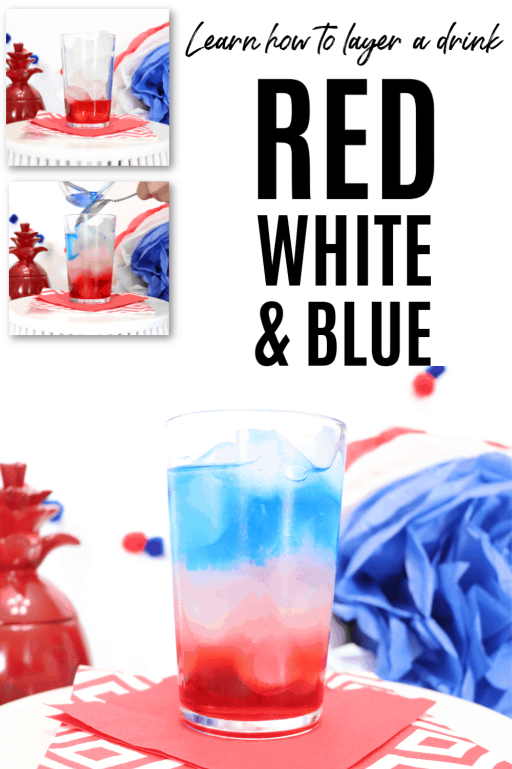 Red White And Blue Layered Cocktail Creative Ramblings