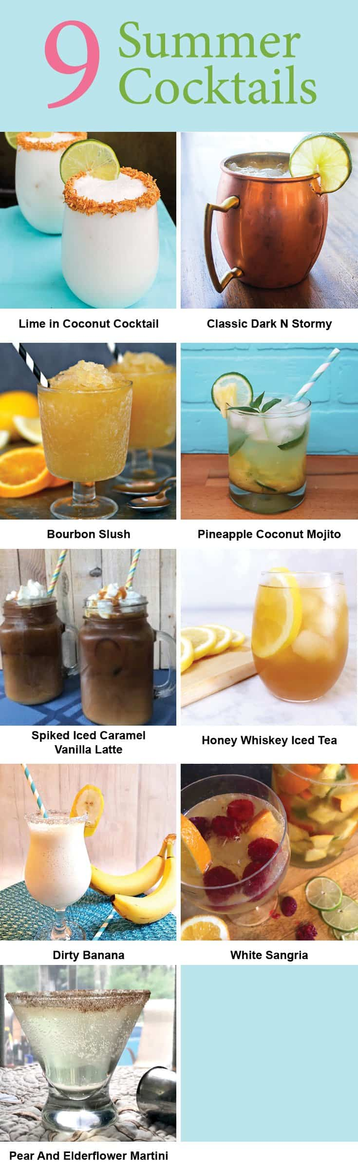 9 summer cocktails