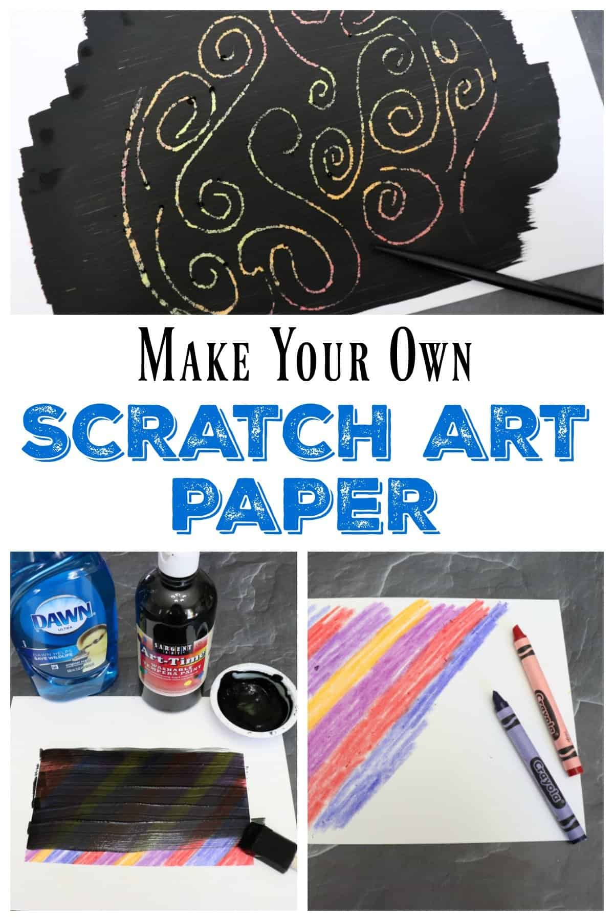Mak scratch art paper at home with these simple supplies and tutorial