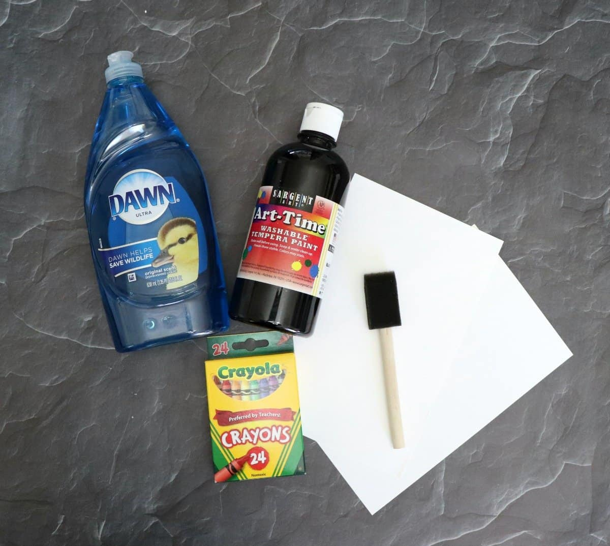 Supplies to make scratch art paper