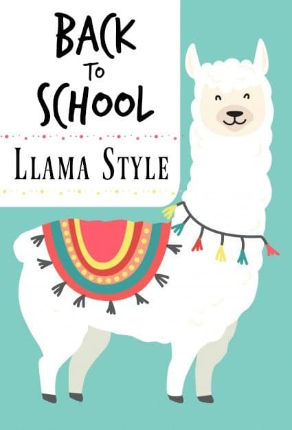 back to school llama