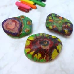 How to Make Melted Crayon Rocks