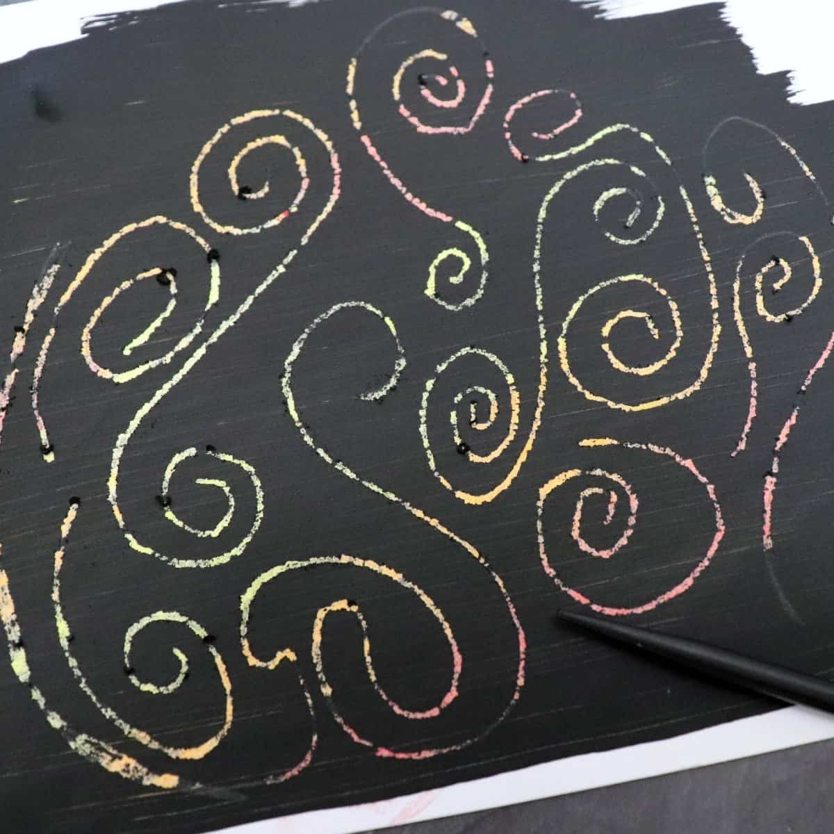 My Kids And I Really Enjoy Making Scratch Art The Paper Is So Easy To Make Too We A Bunch Of Sheets Then Have Fun Creating Colorful