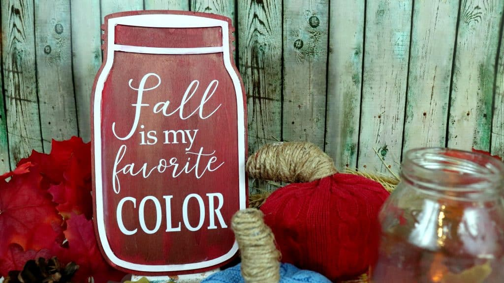 fall is my favorite color mason jar sign