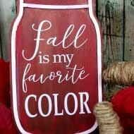 Fall Mason Jar Wood Sign